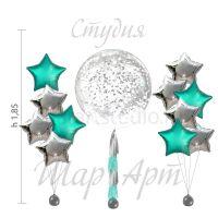 Оформление шарами - Candy bar