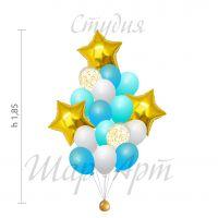 Сет из шаров классика (голубой)